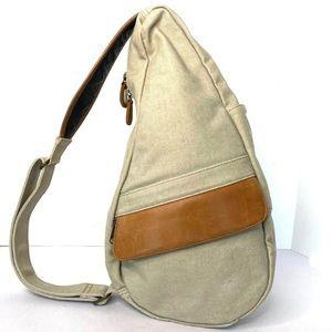 Ameribag LLBean canvas leather backpack brown T